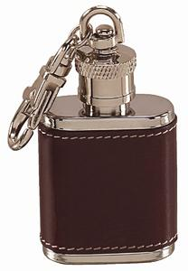 1oz Key-chain Flask Leather-Brown